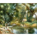 Пейзаж в Эссуа. Купальщицы и прачки - Ренуар, Пьер Огюст