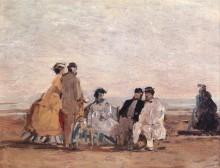 На пляже в Трувиле - Буден, Эжен