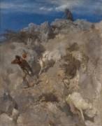 Пан, пугающий пастуха (Панический ужас) - Бёклин, Арнольд