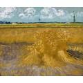 Пшеничное поле со снопами (Wheat Field with Sheaves), 1888 - Гог, Винсент ван