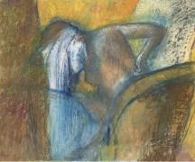 Женщина сушит волосы, 1905-10 - Дега, Эдгар