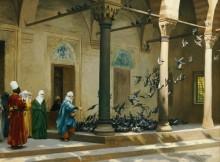 Женщины гарема, кормящие голубей - Жером, Жан-Леон