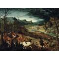 Возвращение стада - ноябрь - Брейгель, Питер (Старший)