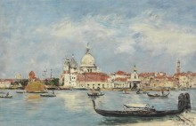 Венецианский пейзаж - Буден, Эжен