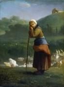 Пастушка гусей, Грюши - Милле, Жан-Франсуа