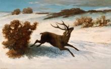 Зимний пейзаж с оленем - Курбе, Гюстав