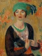 Женщина в зеленом тюрбане - Глакенс, Уильям