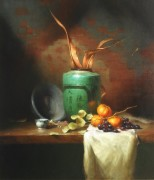 Китайская ваза и чашка - Ридель, Давид