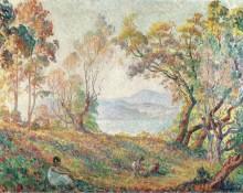 Молодая девушка в лесу, 1906 - Лебаск, Анри