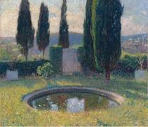 Маленький бассейн в интерьере парка Маркьироль на юго-западе (в начале лета) - Мартен, Анри Жан Гийом