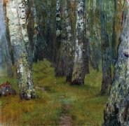 Березы. Опушка леса. 1880-90 - Левитан, Исаак Ильич