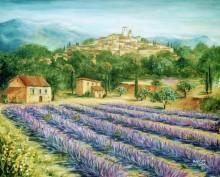 Лавандовое поле в Сен-Поль-де Ванс - Данлап, Мэрилин (20 век)