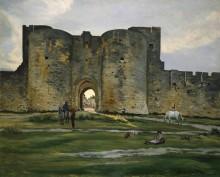 Королевские ворота в Эг-Морт - Базиль, Фредерик Жан