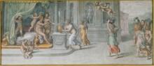 Вертумн и Помона, получающие подношения - Рафаэль, Санти