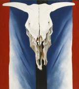 Череп коровы. Красный, белый и синий - О'Кифф, Джорджия