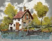 Лодка у дома - Борелли, Гвидо (20 век)