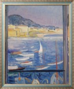Вильфранш-сюр-Мер, вид  окна на море, 1926 - Лебаск, Анри