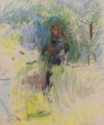 Девочка с собакой, 1892 - Моризо, Берта
