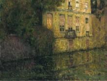 Набережная в зеленом, Брюгге, 1930 - Сиданэ, Анри Эжен Огюстен Ле