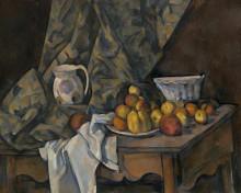 Натюрморт с яблоками и персиками - Сезанн, Поль