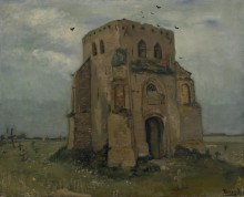 Старая церковная башня в Нюэнене (Country Churchyard and Old Church Tower), 1885 - Гог, Винсент ван