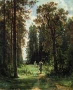 Дорожка в лесу, 1880 - Шишкин, Иван Иванович