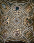 Станца делла Сеньятура: Роспись потолка - Рафаэль, Санти