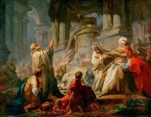 Иеровоам, приносящий жертвы идолам - Фрагонар, Жан Оноре