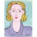 Женщина в голубой блузе - Матисс, Анри