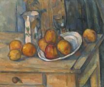 Натюрморт с кувшином молока и фруктами - Сезанн, Поль