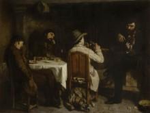После завтрака в Орнане - Курбе, Гюстав
