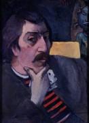 Автопортрет с идолом - Гоген, Поль