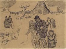 Зимний пейзаж с фигурами (Winter Landscape with Figures), 1890 - Гог, Винсент ван