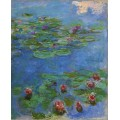 Красные кувшинки, 1908 - Моне, Клод
