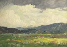 Солнечные лучи , Таос горы -  Шарп, Джозеф  Генри