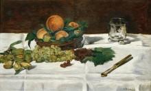 Натюрморт с фруктами на столе - Мане, Эдуард