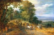 Лесная дорога на холме - Брейгель, Ян (Старший)