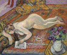 Спящая обнаженная на ковре - Манген, Анри
