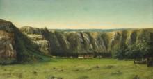 Скалистый пейзаж близ Орнана - Курбе, Гюстав