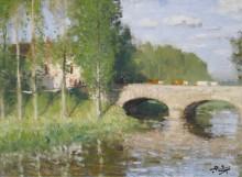 Мост через реку, Сен-Жам-Моронваль - Монтезен, Пьер-Эжен