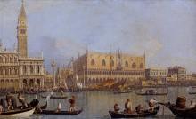 Вид на Дворец дожей в Венеции - Каналетто (Джованни Антонио Каналь)