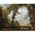 Вид на собор в Солсбери из епископского сада - Констебль, Джон
