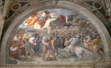 Станца Илиодора: Встреча Льва Великого с Аттилой - Рафаэль, Санти