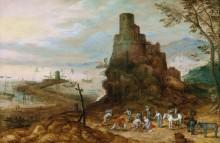 Прибрежный пейзаж с гробницей Сципиона - Брейгель, Ян (младший)