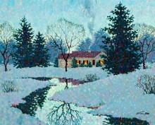 Зимний пейзаж - Сарноф, Артур