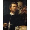Автопортрет со смертью, играющей на скрипке - Бёклин, Арнольд