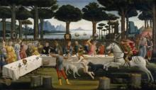 "Новелла о Настаджио дельи Онести,(""Декамерон""Бокаччо) 1483 - Боттичелли, Сандро"