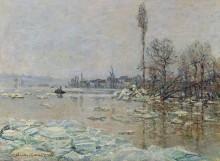 Дробление льда, 1880 - Моне, Клод