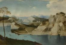 Пейзаж - река среди гор