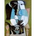 Сидящая женщина с кошкой, 1964 - Пикассо, Пабло